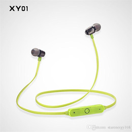 Wholesale Tablet Computer Cell Phone - NEW metal Auriculares V4.1 Bluetooth stereo earbud headset headset YX01 sports a stereo headset phone headset universal computer tablet 9-EM