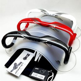 Wholesale Carbon Bike Handlebars - SL 70 Aero Carbon Road Bike Handlebar Carbon Handlebar UD Gloss Red White Black Color