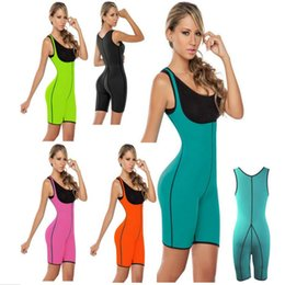 Wholesale Slimming Body Clothes - Fashion Women Leotard Ultra Sweat Positive and Negative Wear Sports Bunch Body Shapewear Slim Jumpsuits Yoga Clothes Running Apparel