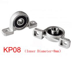 Wholesale Shaft Block Bearing - KP08 Inner Diameter=8mm 4pcs set pillow block bearing zinc alloy insert linear bearing shaft support CNC part for 3D printer Lead screw