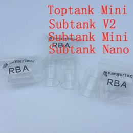 Wholesale Original Kanger Pyrex - Pyrex Glass for Kanger Toptank Mini Atomizer 100% Original Toptank Mini 4ml Top Filling Airflow Control Sub ohm Tank With Delrin Drip Tip