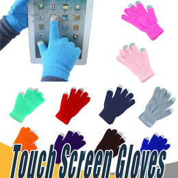 Wholesale Gloves For Iphone - Warm Winter Multi Purpose Unisex Capacitive Half fingerc Touch Screen Gloves Christmas Gift For iPhone iPad Smart Phone