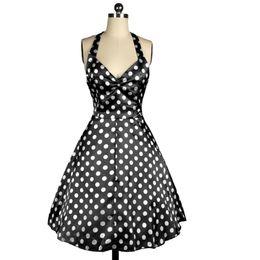 Wholesale Pinup Mini Dress - Womens Summer Dresses 2016 Summer Vestidos Audrey Hepburn Style Big Swing Pinup Robe ete Sexy Ladies 50s Vintage Dress Backless