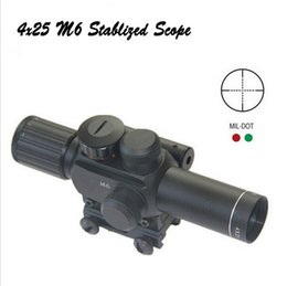 Wholesale Night Vision Laser Sight - Wholesale-Free Shipping M6 Cheap price hunting scope for rifle discount 4x25 night vision with red dot laser sight for riflescope hot sale