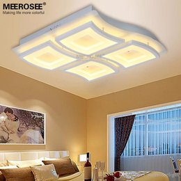 Wholesale Vintage Acrylic Lamps - New Design LED Chandelier Light White Acrylic lamp Modern LED Ceiling lighting Energy Saving Chandeliers Ceiling lamp Fast Shipping MD81923