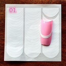 Manicure francês dicas ponta unha on-line-18 Estilos / set Prego Decoração Nail Art Tips Nail Art Forma Franja Guias Etiqueta DIY Francês Manicure
