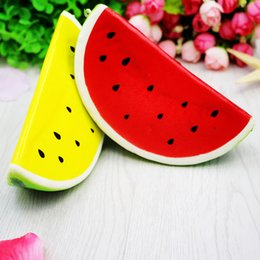 Wholesale Fun Retail - 15cm Fruit Watermelon Jumbo Kawaii Squishy Super Slow Rising Stretch Scented Bread Cake Bun Kid Toy Gift Fun Wholesale