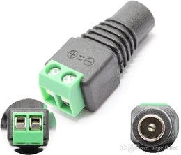 Wholesale Led Lights Strip Male - 12V DC Male Power Plug Connector 5.5X2.1mm Light Adapter LED Strips Accessory For 5050 3528 2835 3014 5630 Led Strip Tape