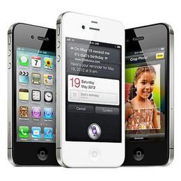Wholesale Original Smartphones Unlocked - Original Apple Iphone 4S IOS7.0 3G Smartphones Dual Core 16G ROM GSM WCDMA Factory Unlocked 3.5inch phone