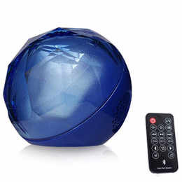 Wholesale Magic Lighting Remote Control - New Color Ball Bluetooth Speaker LED Light Magic Crystal Speaker With Remote Control Wireless Audio Player Xmas Gift