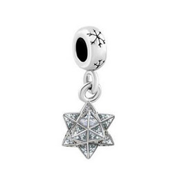 Wholesale Enamel Glitter - shenzhen factory directly sale Rhodium Plating glitter enamel star dangle Christmas snowflake charm European Beads Fit All Brands Bracelet