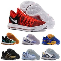 Wholesale Kd High Cut - 2017 Newest Kevin Durant 10 Basketball Shoes Men High Quality KD 10s X Oreo Still Zoom KD10 Sport Shoe White month Athletic 7-12
