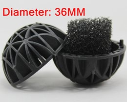 Wholesale Fish Ponds - 50Pcs  Lot Aquarium 36mm Biological Bio Balls Filter Media with Sponge for Fish Tank Koi Pond Filter , Pond and Sump Filters