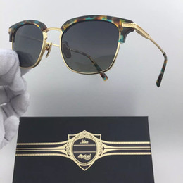 Wholesale Square Black Glass Plates - Best-selling Luxury Brand Glasses Frame NO M A D Half-Frame 18k Gold-Plated Sunglasses Frame For Men Casual Style Top Quality With Box