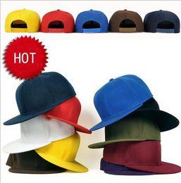 sombreros de sol de colores para las mujeres Rebajas Moda en blanco Llano Snapback sombreros Unisex hombres Hip-Hop ajustable bboy deportes Gorra de béisbol sombrero para el sol colorido Accesorios de moda regalo