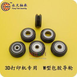 Wholesale 3d Printer Pulley - Wholesale- V   W-slot passive 3D printer profile rail wheel 20 Plastic pulley wheel BW25 5*24.39*10.23