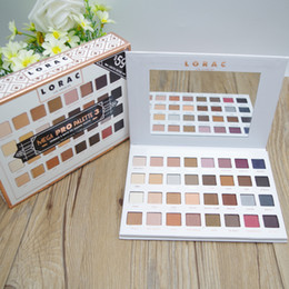 Wholesale Eye Shadow Palette 32 - LORAC Mega PRO Palette Shimmer Matte Eye Shadow Palette 32 Colors Makeup Eyeshadow Limited Edition Brands Cosmetic Set Brand DHL Shipping