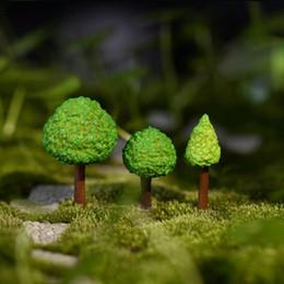 Wholesale Wholesale Miniature Craft Trees - 500pcs Lovely Resin Craft Tree Miniature Plants Terrarium Mini Fairy Garden Accessories Ornament Micro Landscape Decor ZA0704