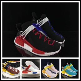 Wholesale Yellow Kitten Heels Wedding - Pharrell Williams X NMD Yellow Human Race Friends And Family Mens Running Shoes Primeknit Boost PW HU Fashion Sports Trainer Women Sneaker