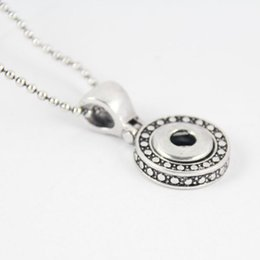Wholesale Europe Style Necklaces - Hot Europe America Style NOOSA Interchangeable 12mm Snap Jewelry Metal Snap Button Pendant Necklace for women