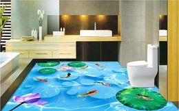 Wholesale Figure Wallpaper - Lotus three-dimensional figure nine stone floor three-dimensional wall wallpaper for bathrooms