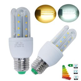 Wholesale Small E14 - Small Order 10PCS E27 5W LED Corn Light Bulbs U Shape Lamp Energy Saving White Warm White for living room hallway hotel kitchen