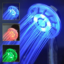 Wholesale Led Bathtub Faucet - Home Improvement Colorful Home Bathroom Changing LED Shower Water Faucet Glow Light Showers E00463