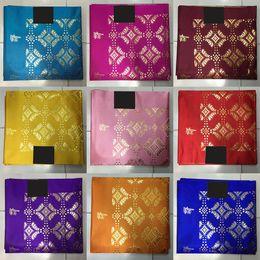 Wholesale Yellow Sego Gele - Drop shipping african wedding Head Gear,Gold Nigerian Jubilee sego gele headtie for african head wraps LXLX-2
