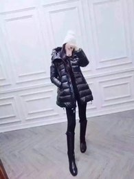 Wholesale Casual Coat Styles - M160 French brand jacket parkas for women winter Ladies anorak coats hood parka New Style women jackets