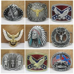 2016 confédéré sud sud rebelle Dixie drapeau CSA armée grande boucle de ceinture boucles 9 Styles drapeau Lebel ceinture Cool cadeau E870L ? partir de fabricateur