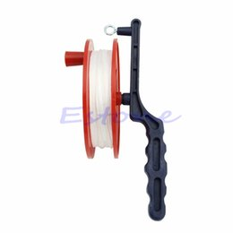 Wholesale winder reels - Wholesale- 60M Reel Handle Line String Wind Ball Bearing Wheel OutdoorKite Winder Tool