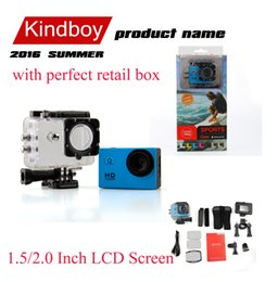 Wholesale Mini Helmet Hd Camera - SJ4000 style A9 2 Inch LCD Screen mini camera 1080P Full HD Action Camera 30M Waterproof Camcorders SJcam Helmet Sport DV VS 4k