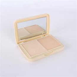 Wholesale Mineral Makeup Compact - Wholesale-Makeup Compact Pressed Powder 2 Layered soymilk Skin Facial Mineral Foundation Powder