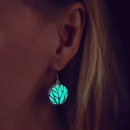 Wholesale Rings Pearl Black - 2017 New Noctilucent Stud Earrings Water Droplets Diamond Crystal Earrings Studs Wholesale Earring Pearl Summer Hollow Out Drop Ear Rings