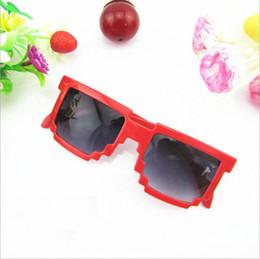 2019 kinder gläser fällen Kinder Sonnenbrille Platz Mosaik Sonnenbrille Kinder Pixel Sonnenbrille Trendy Jungen Mädchen Brille mit Fall YYA690 günstig kinder gläser fällen