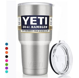 Wholesale Shipping Box Lid - YETI with lid 12oz 20oz 30oz YETI Cups beer Mug Bottle Colster Rambl retail package box outdoor mugs car cups fast shipping