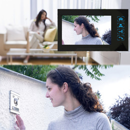 "Wholesale Intercom W Screen - Home Security 7"" Inch TFT Touch Screen LCD Color Video Door Phone Doorbell Intercom system IR Night Vision Eye Camera Doorphone"