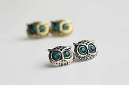 Wholesale wholesale eye pins - New Retro Fashion Lady Big Eyes Owl Stud Earring Earrings Pin Nail earrings stud Fashion 100 pcs
