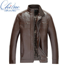 Wholesale Slimming Bamboo High Quality - Fall-New high quality fashion men's leather jacket leather jacket collar men's business casual jacket Jaquetas L-XXXL4XL5XL