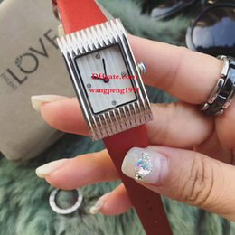 Wholesale 23mm Watch - 6 Style Ladies Fashion AAA watches 23MM White dial Asia VK Quartz Silver bezel Date Leather Strap Bands Chronograph womens Watch Watches
