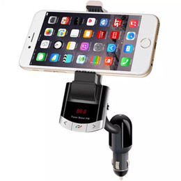 Wholesale Usb Disks For Bluetooth - Universal Wireless Bluetooth Car Kit Cellphone Handsfree Speakerphone Support USB Charger Music Adapter BT FM transmitter Player For U Disk