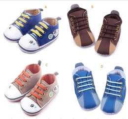 Wholesale Infant Shoes Wholesale China - Drop shipping brown bluetoddler shoes, Shoes,soft kids sports shoes,0-18 M baby canvas shoes,china infant walking shoes.9pairs 18pcs.ZH