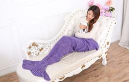 Wholesale Knitting Yarns Crochet Threads Wholesale - yarn knitted Mermaid Tail blanket handmade crochet mermaid blanket adult throw bed Wrap super soft sleeping bag 90cm 195cm