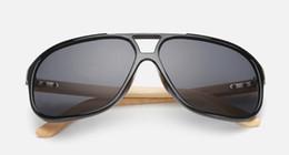Wholesale Plastic Aviator Glasses - New Aviator Wood Sunglasses Natrual Bamboo Glasses Beach Eyewear Glasses Style Hand Made Wooden Sunglasses Plastic Frame
