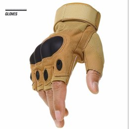 Wholesale Mens Gloves Xl - Mens Outdoor Sports Gloves Fingerless Outdoor Sports Hiking Motocycle Racing Gloves Slip Resistant Breathable Tortoise Shell Sport Gloves