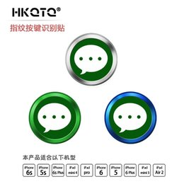 Wholesale Home Button Sticker Iphone Cute - Wholesale-Round Mobile Phone Home Button cute Sticker for iPhone 5 SE 5S 6 6s fingerprint identification for iPad Touch Key paster 100pcs