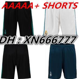 Wholesale Men Home Pants - 2017 2018 Real Madrid home away 3rd Soccer jersey Shorts 1718 Ronaldo MODRIC LUCAS V MORATA KROOS ISCO BENZEMA football Short pants