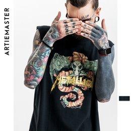 Chaleco cráneo hombres online-Hombres Slipknot Skull Rock Hip Hop Tank Top Chaleco de los hombres Moda Swag O-cuello Sin mangas Tank Tops Algodón Sólido Verano Tops