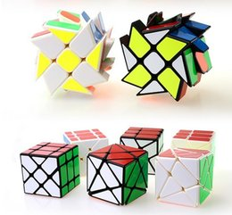 Wholesale Puzzle Stickers - 2017 new style Wholesale wind and fire wheel 3 x 3 x 3 Gears Rotate Puzzle Sticker Adults Child's Educational Toy Cube