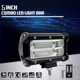 Wholesale Philips Lighting Lamps - 1PCS 5 Inch 72W Philips LED Work Light Bar Lamp IP67 10800LM for Motorcycle Tractor Boat Off Road 4WD 4x4 Truck SUV ATV Spot Flood 12v 24v